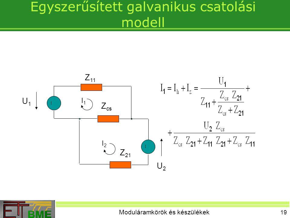 Egyszerűsített galvanikus csatolási modell