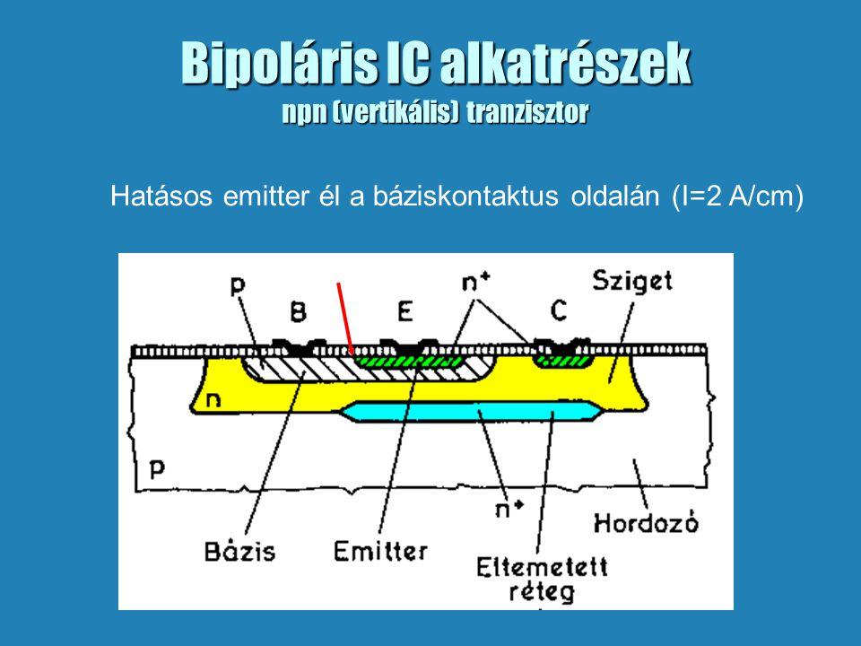 Bipoláris IC alkatrészek npn (vertikális) tranzisztor
