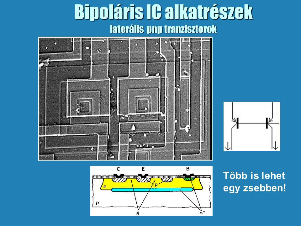Bipoláris IC alkatrészek laterális pnp tranzisztorok