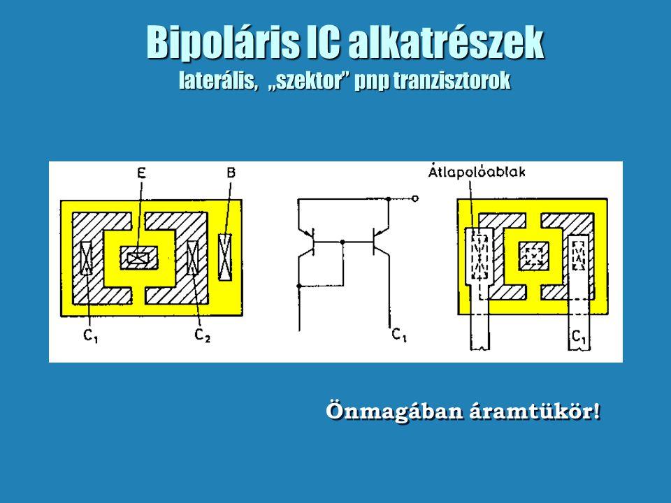 """Bipoláris IC alkatrészek laterális, """"szektor pnp tranzisztorok"""