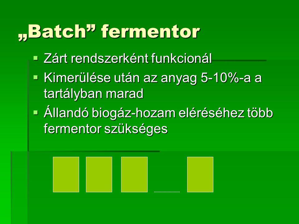 """""""Batch fermentor Zárt rendszerként funkcionál"""