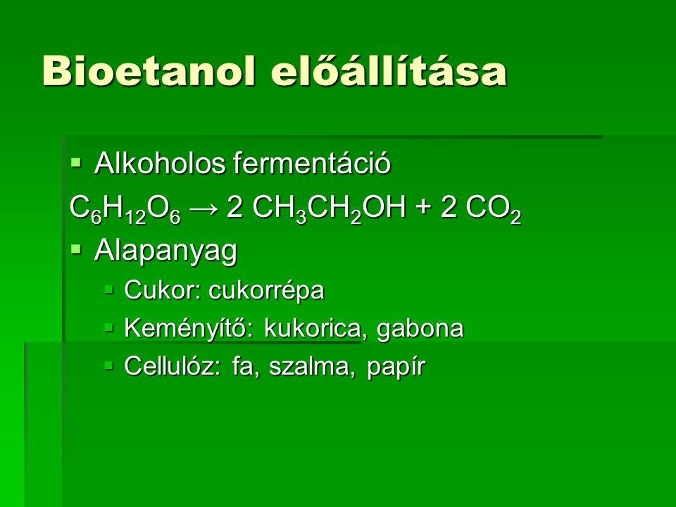 Bioetanol előállítása