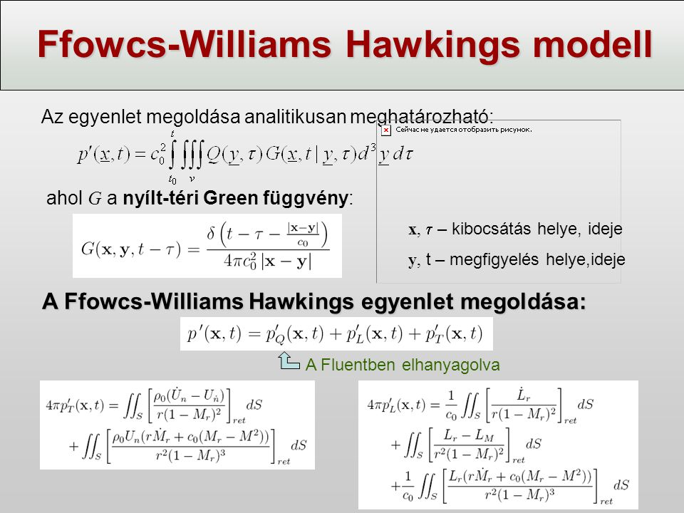 Ffowcs-Williams Hawkings modell
