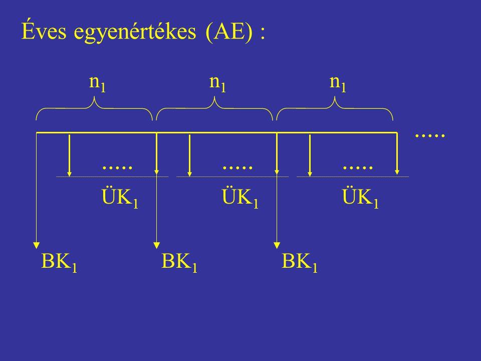 ..... ..... ..... ..... Éves egyenértékes (AE) : BK1 ÜK1 n1 BK1 ÜK1 n1