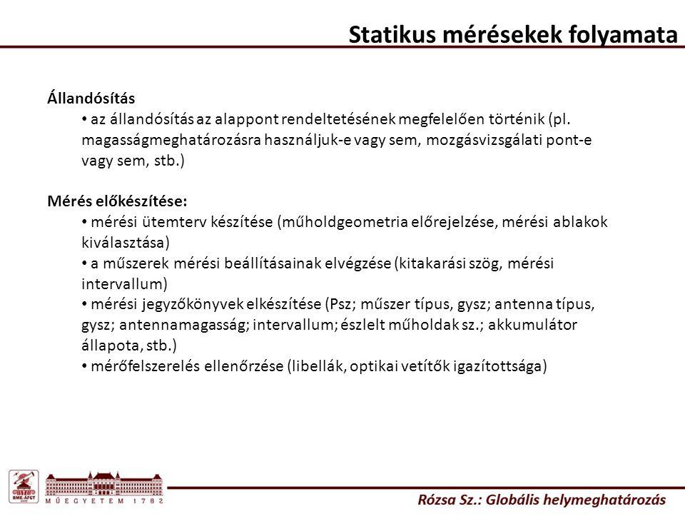 Statikus mérésekek folyamata