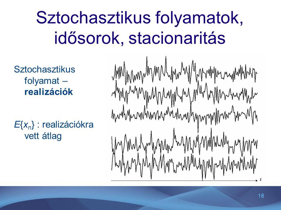 Sztochasztikus folyamatok, idősorok, stacionaritás