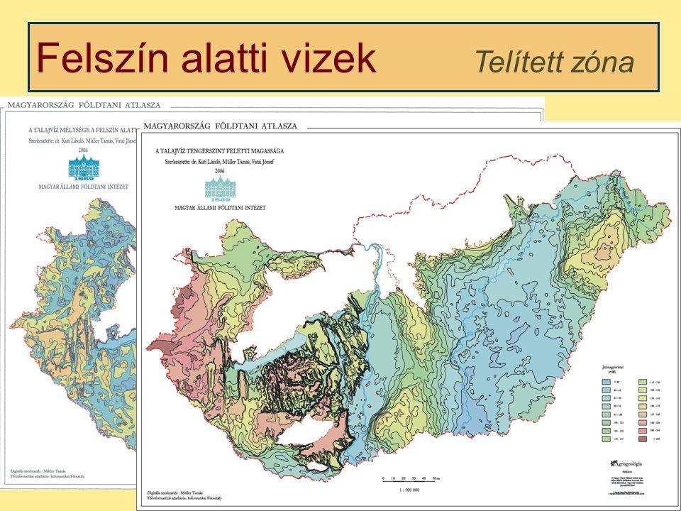 Felszín alatti vizek Telített zóna Kétfázisú