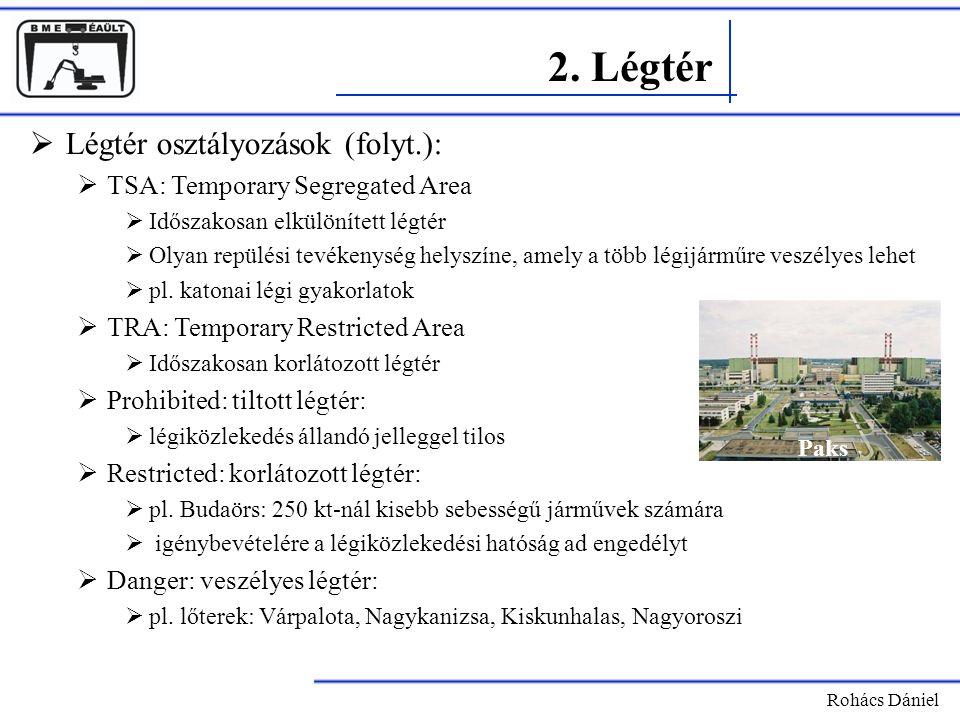 2. Légtér Légtér osztályozások (folyt.):