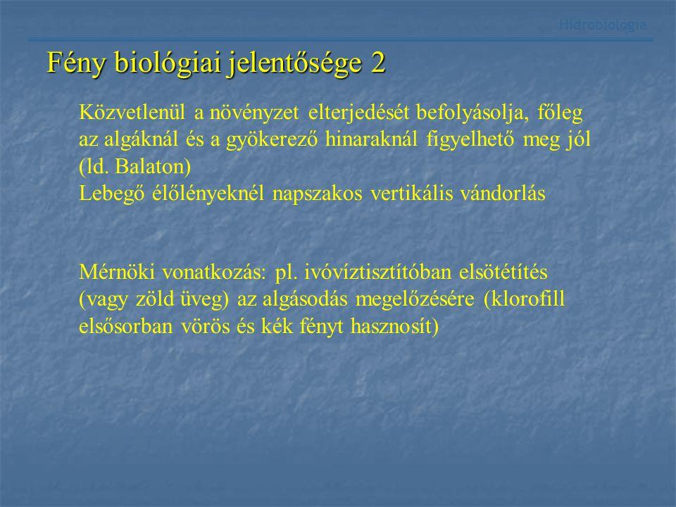 Fény biológiai jelentősége 2