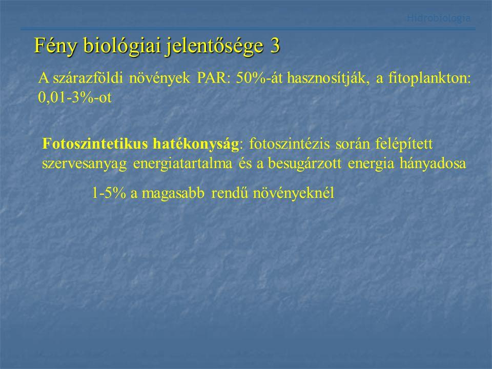 Fény biológiai jelentősége 3