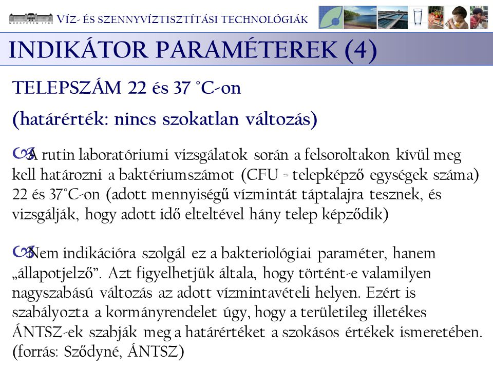 INDIKÁTOR PARAMÉTEREK (4)