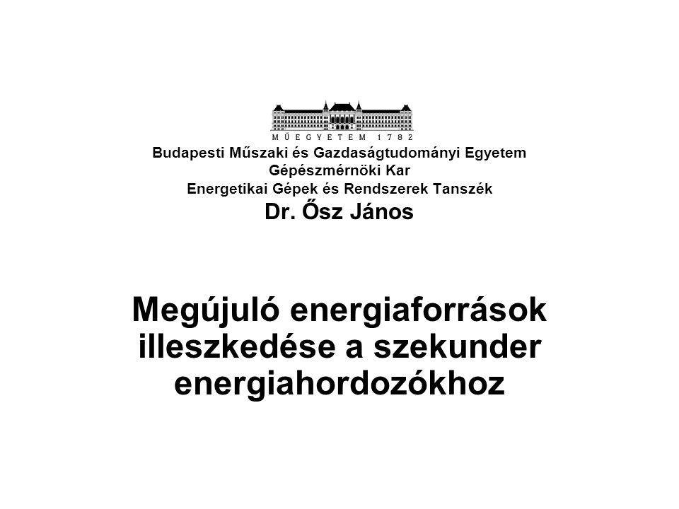 Megújuló energiaforrások illeszkedése a szekunder energiahordozókhoz