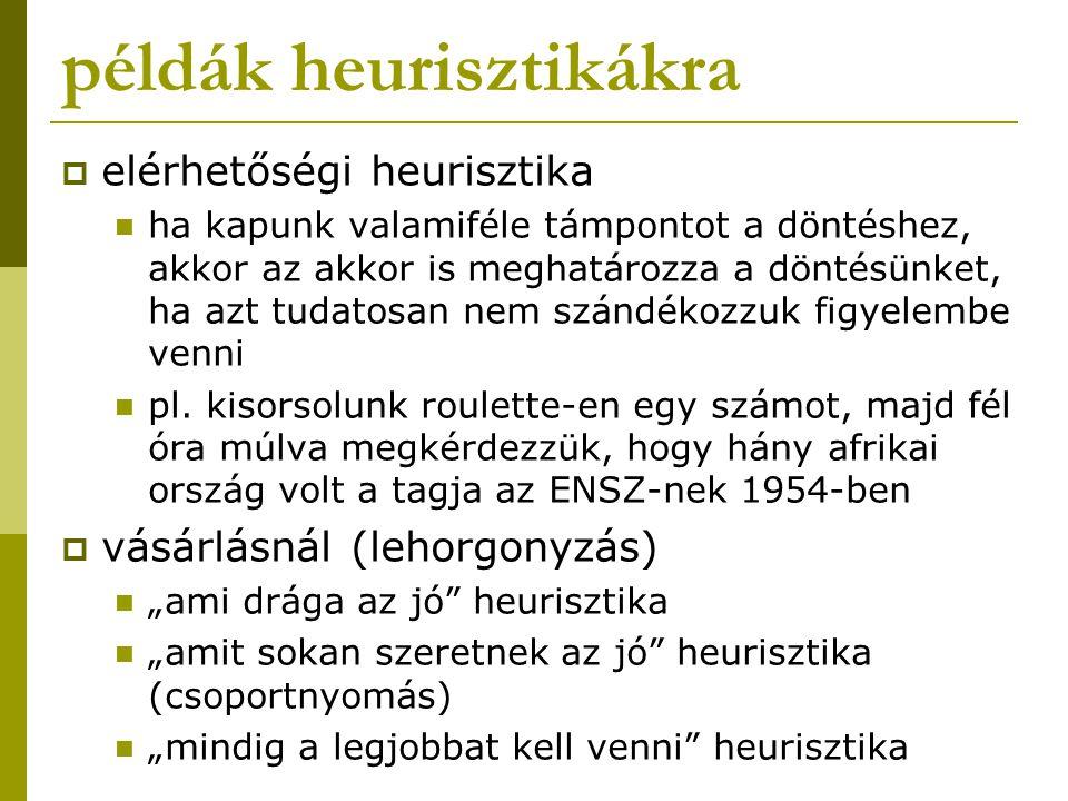 példák heurisztikákra