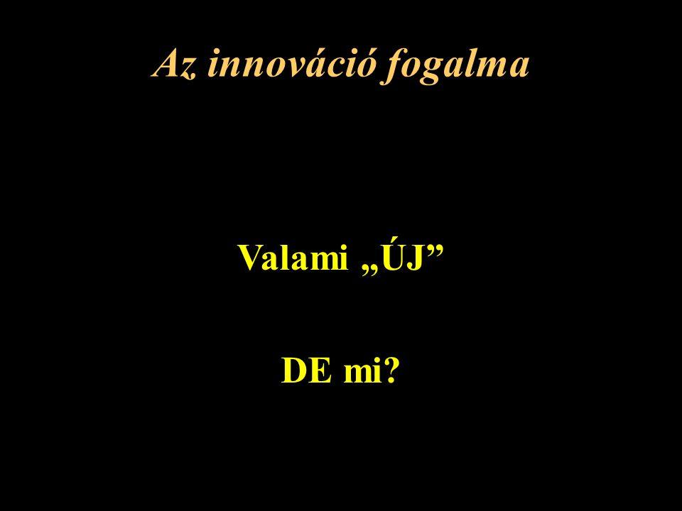 """Az innováció fogalma Valami """"ÚJ DE mi"""