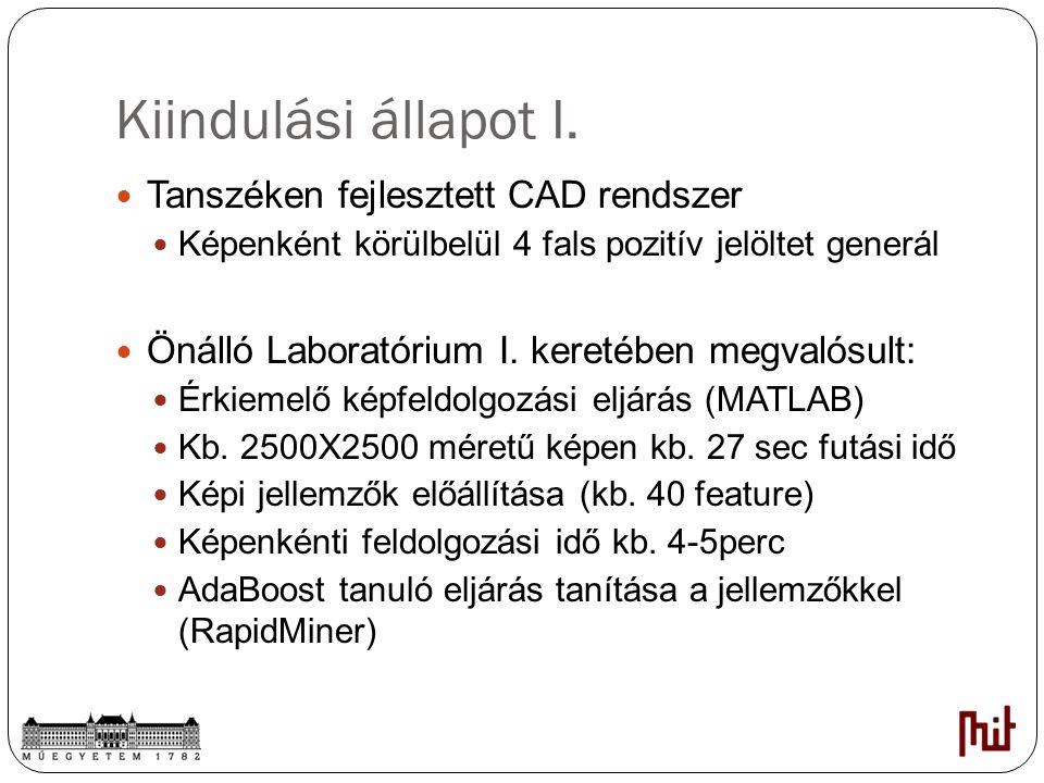 Kiindulási állapot I. Tanszéken fejlesztett CAD rendszer