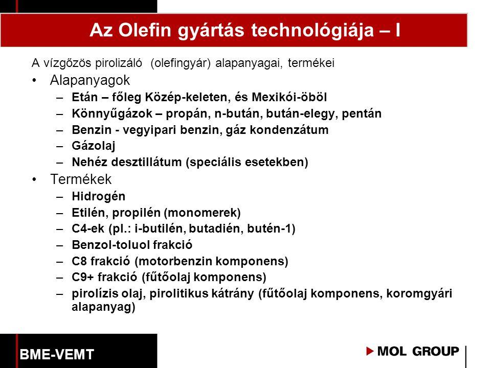 Az Olefin gyártás technológiája – I