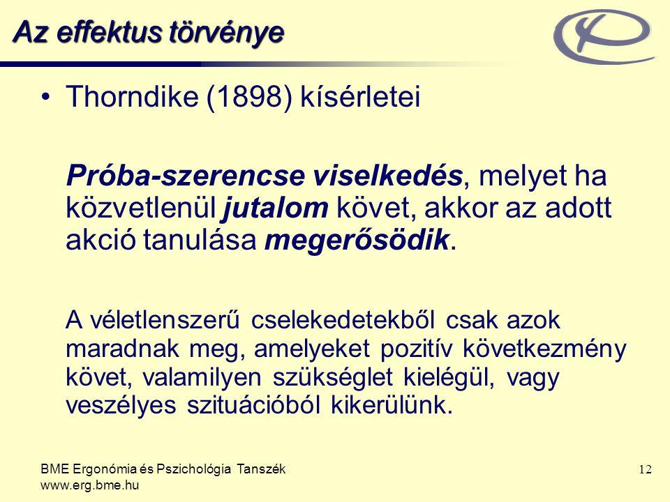 Thorndike (1898) kísérletei