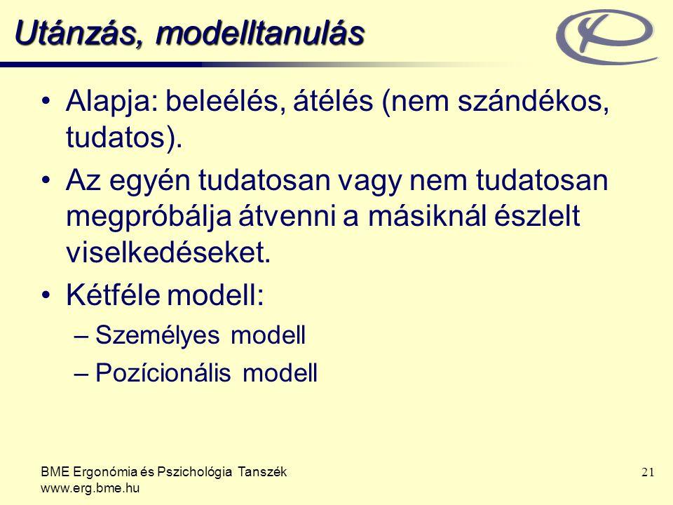 Utánzás, modelltanulás