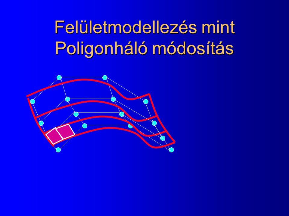 Felületmodellezés mint Poligonháló módosítás
