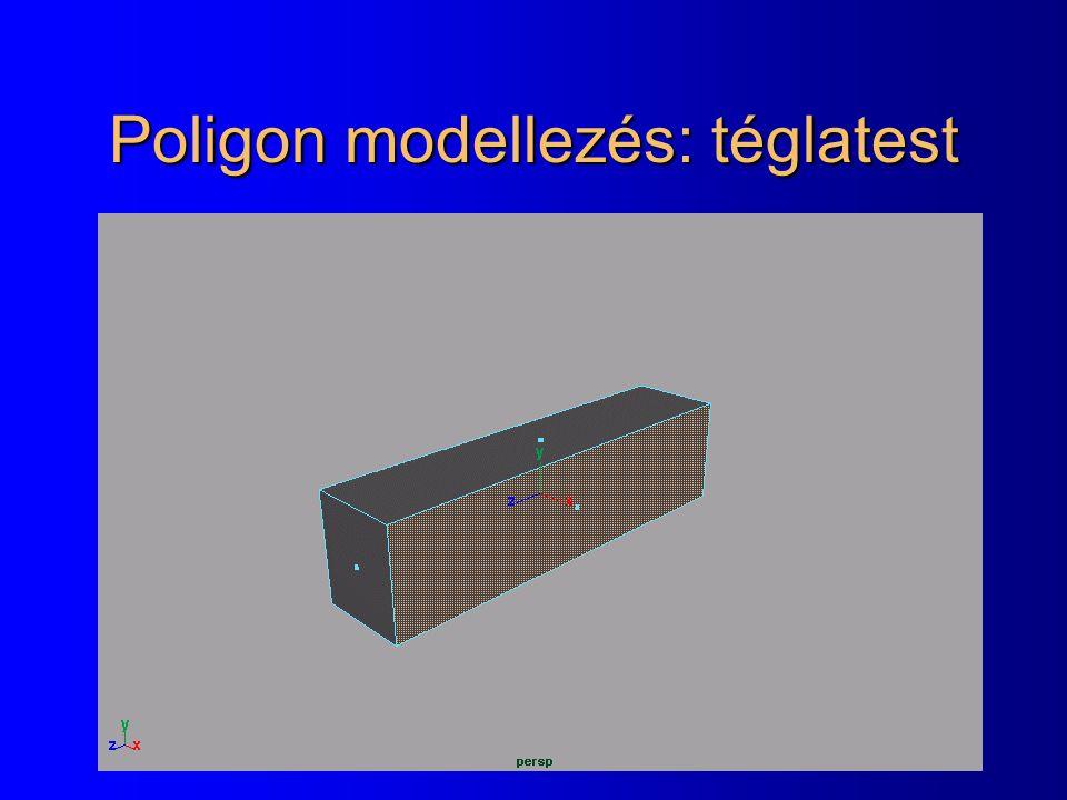 Poligon modellezés: téglatest