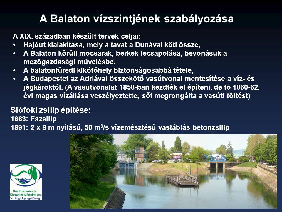 A Balaton vízszintjének szabályozása