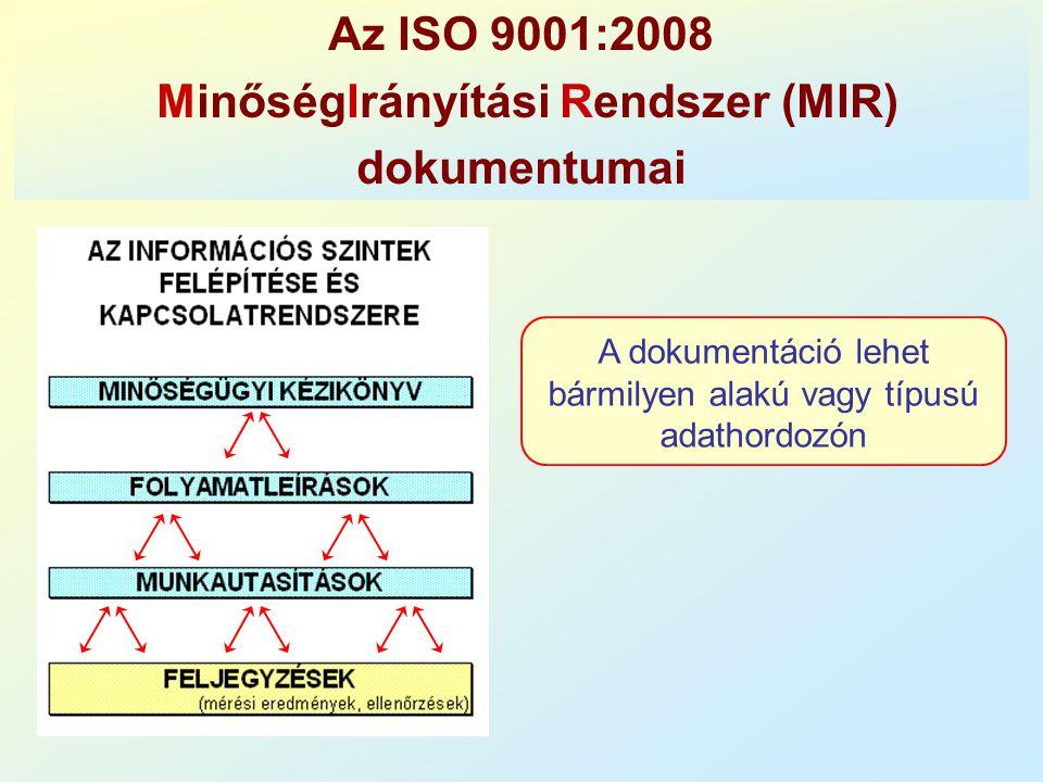 MinőségIrányítási Rendszer (MIR)
