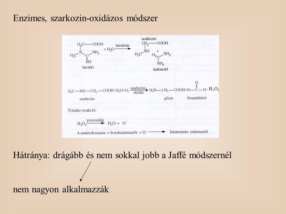 Enzimes, szarkozin-oxidázos módszer