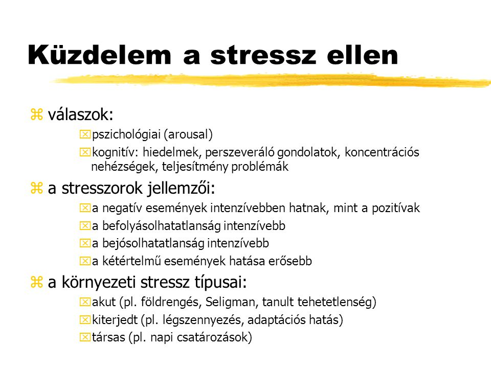 Küzdelem a stressz ellen