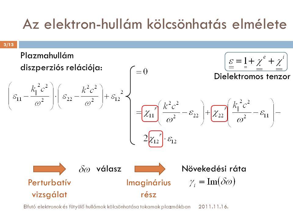 Az elektron-hullám kölcsönhatás elmélete