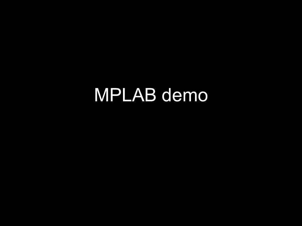 MPLAB demo