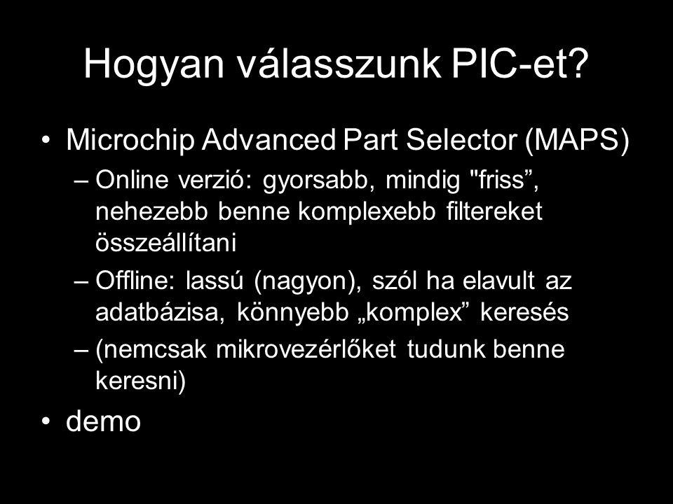 Hogyan válasszunk PIC-et