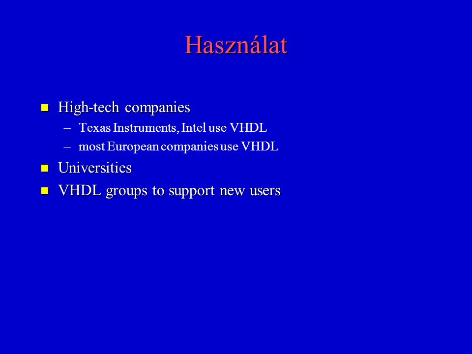 Használat High-tech companies Universities