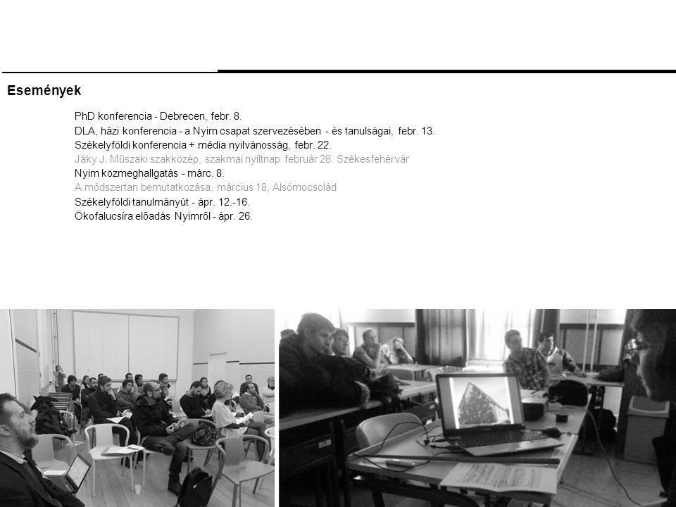 Események PhD konferencia - Debrecen, febr. 8.