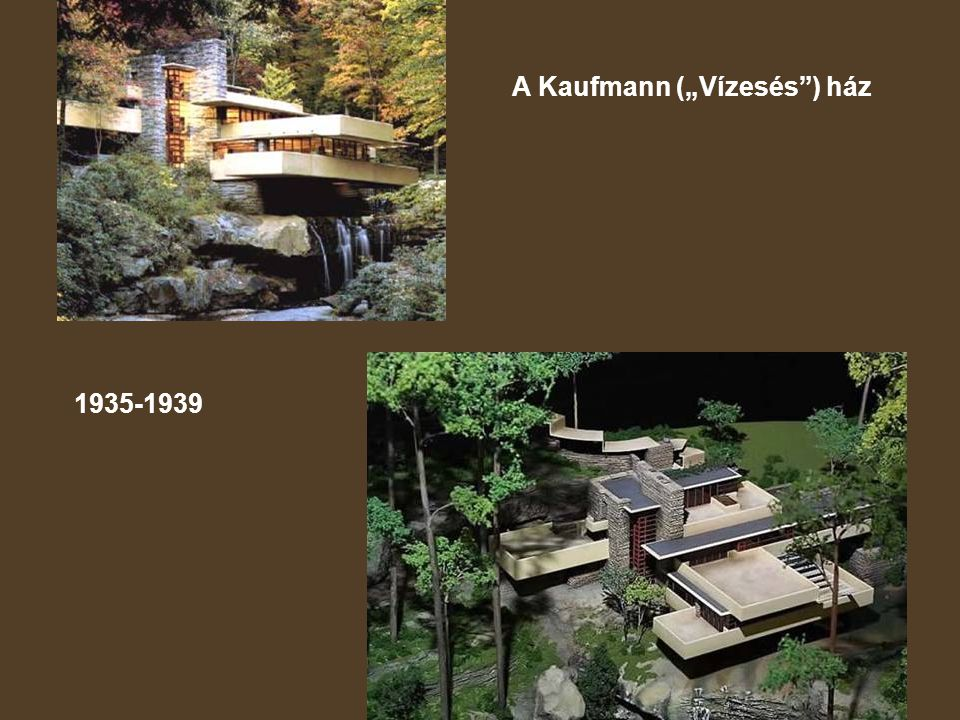 """A Kaufmann (""""Vízesés ) ház"""