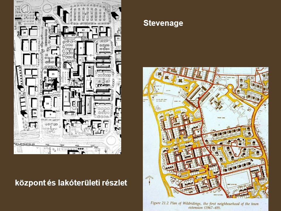 Stevenage központ és lakóterületi részlet