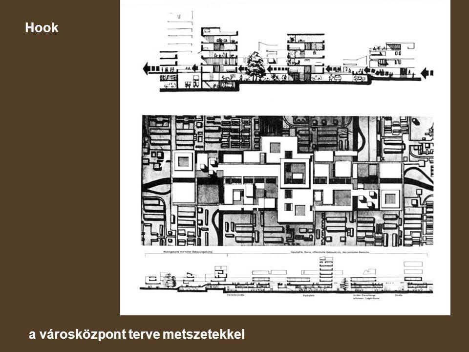 Hook a városközpont terve metszetekkel