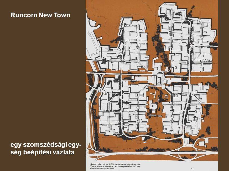 Runcorn New Town egy szomszédsági egy-ség beépítési vázlata