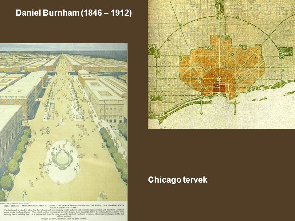 Daniel Burnham (1846 – 1912) Chicago tervek