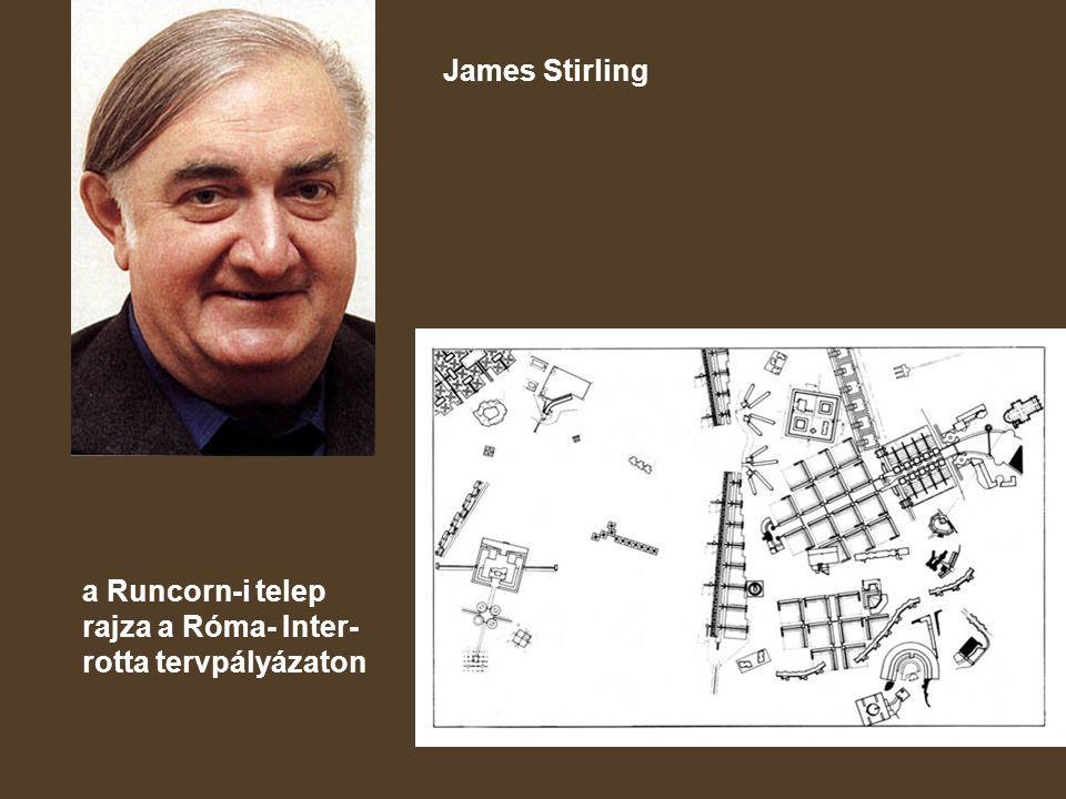 James Stirling a Runcorn-i telep rajza a Róma- Inter-rotta tervpályázaton