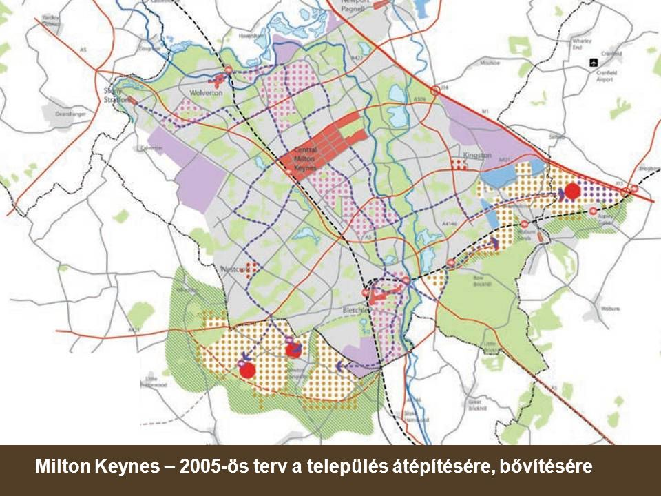 Milton Keynes – 2005-ös terv a település átépítésére, bővítésére
