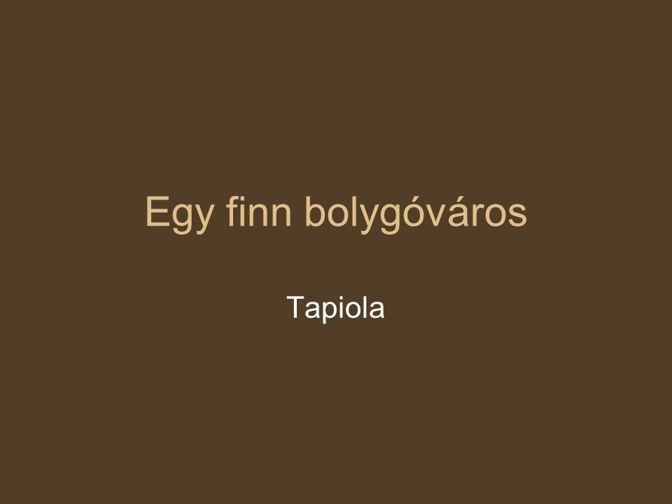 Egy finn bolygóváros Tapiola