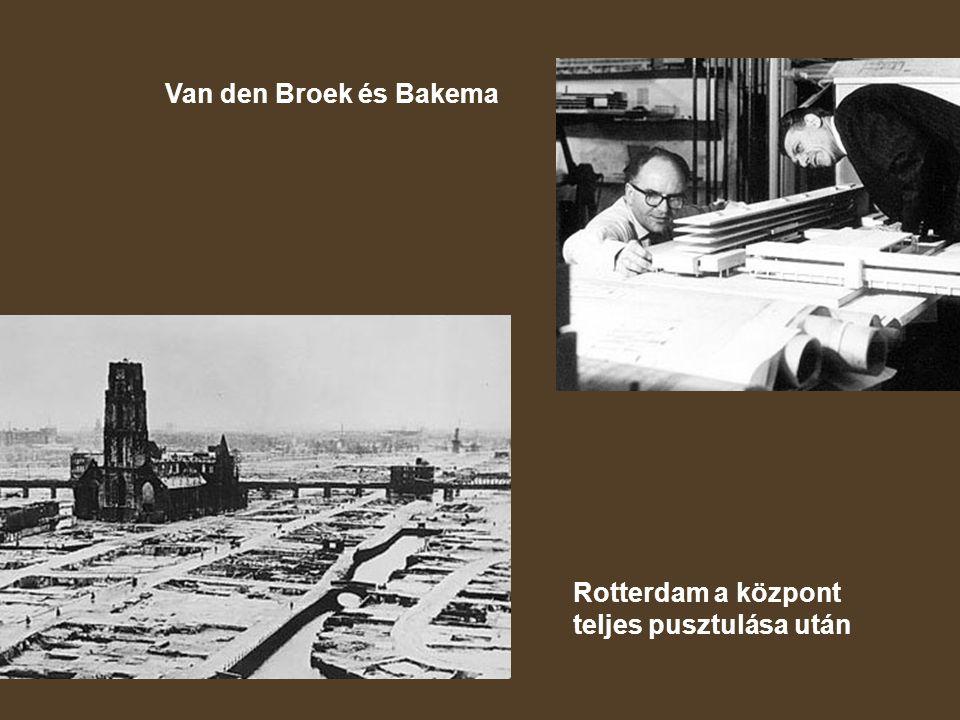 Van den Broek és Bakema Rotterdam a központ teljes pusztulása után