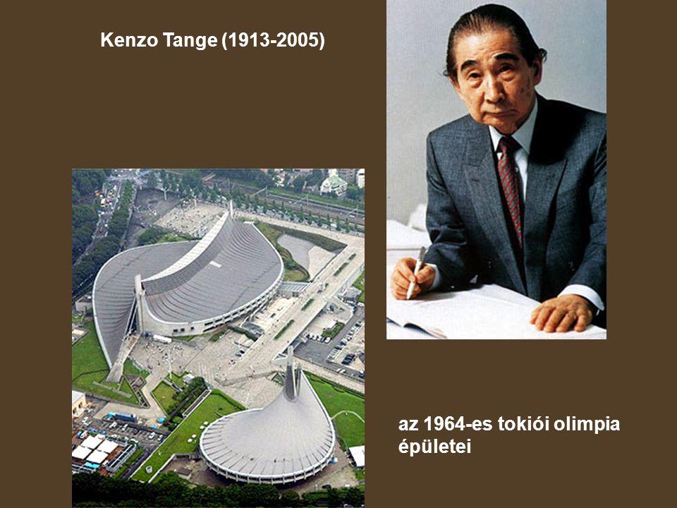 Kenzo Tange (1913-2005) az 1964-es tokiói olimpia épületei