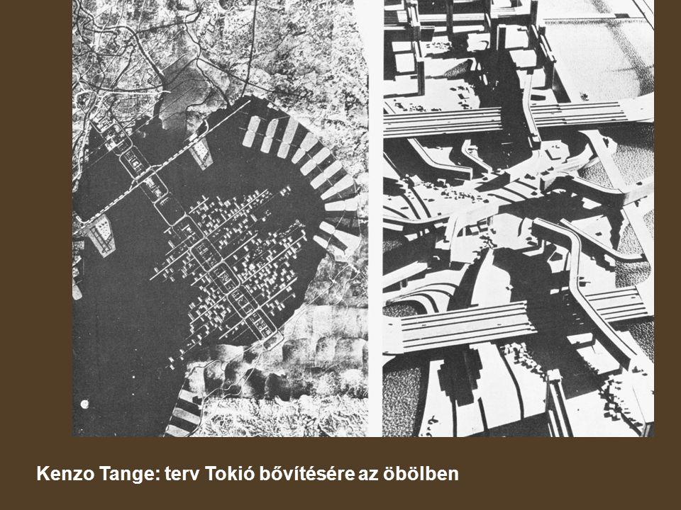 Kenzo Tange: terv Tokió bővítésére az öbölben