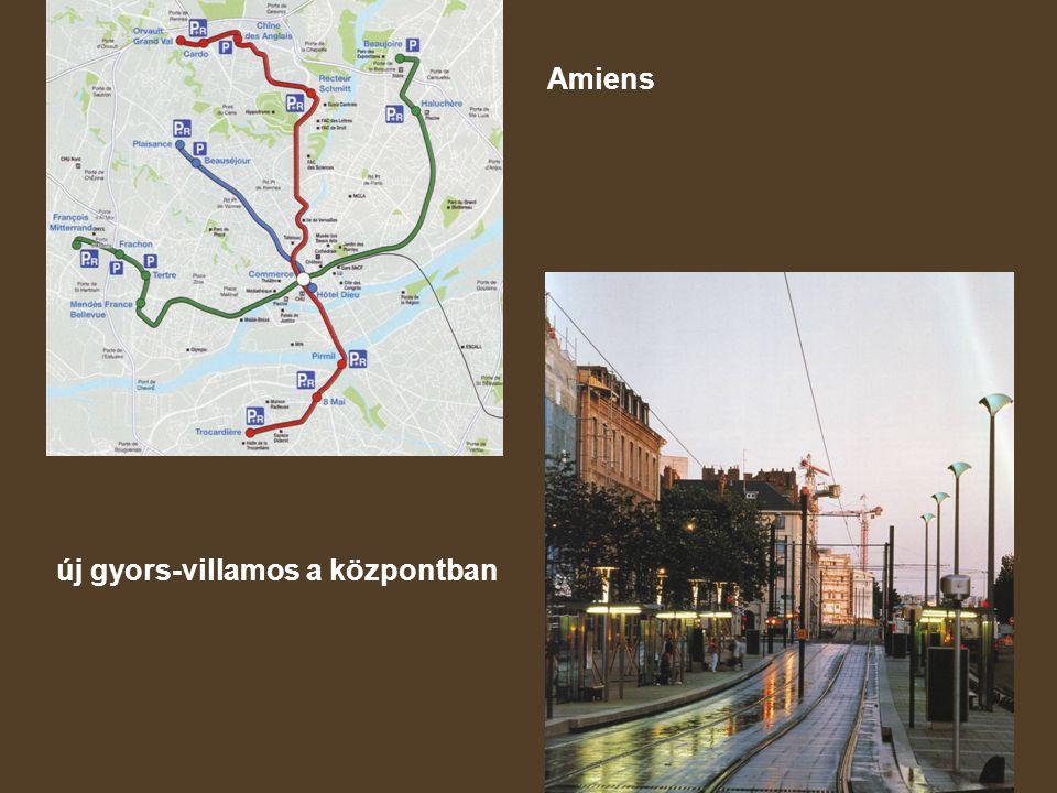 Amiens új gyors-villamos a központban
