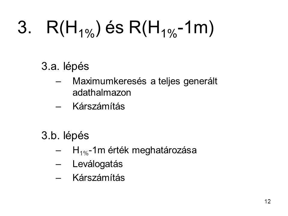 3. R(H1%) és R(H1%-1m) 3.a. lépés 3.b. lépés