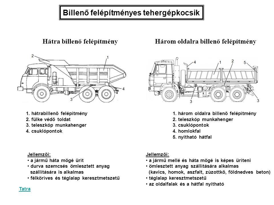 Billenő felépítményes tehergépkocsik