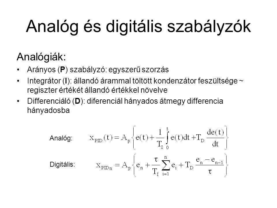 Analóg és digitális szabályzók