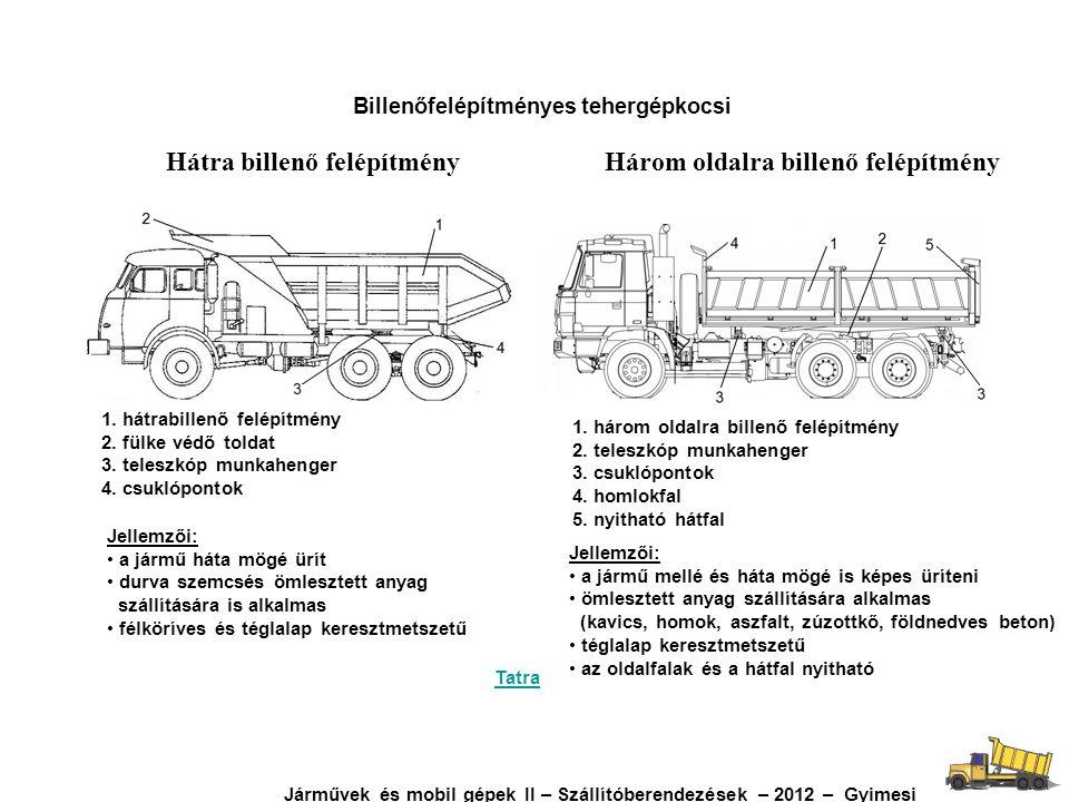 Billenőfelépítményes tehergépkocsi