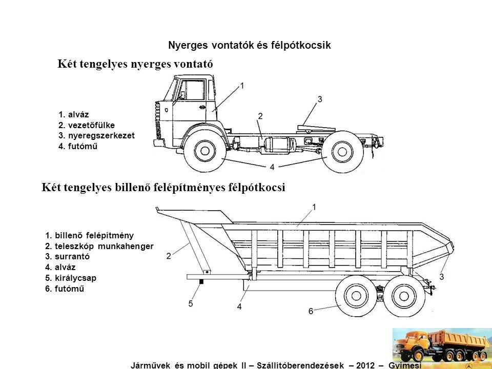 Nyerges vontatók és félpótkocsik